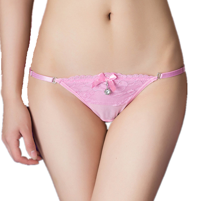 New Fashion Pearl Sexy Lace Women Panties Thongs Seamless T-back Low Waist Sexy Lady G-string Underwear Hot Sale