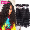 Rosa Hair Products With Closure 4 Bundles Brazilian Virgin Hair With Closure Deep Wave Brazillian Hair With Closures 8a Or 10