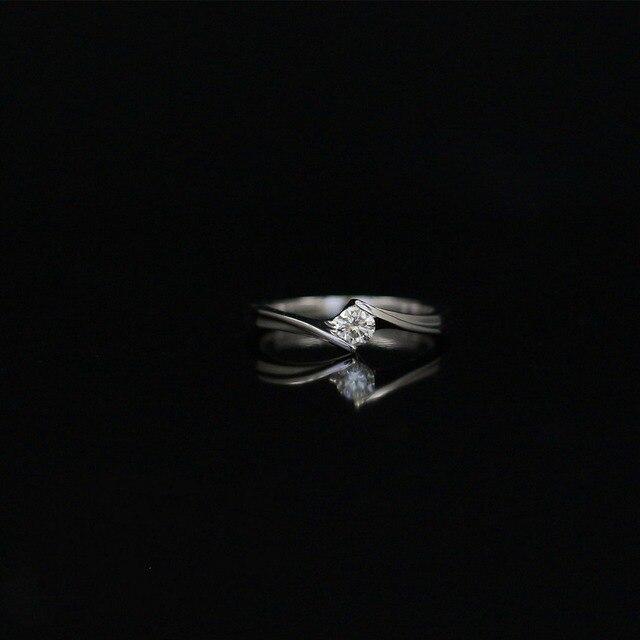 146bee4e1987 LASAMERO 0. 19 CT IJ SI Corte Redondo Moderno Diseño Natural Anillo de  Diamantes