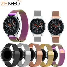 22MM For Samsung Galaxy 46MM For Gear S3 Frontier Classic Band For Huami Amazfit Stratos 2 Stainless Steel Milanese Loop Watch laforuta milanese loop strap for gear s3 frontier classic watch band 22mm 20mm 18mm stainless steel mesh samsung galaxy 46mm