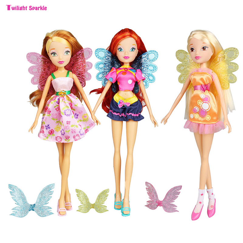 Girl Toy Figures : Winx club doll beautiful girl action figures dolls