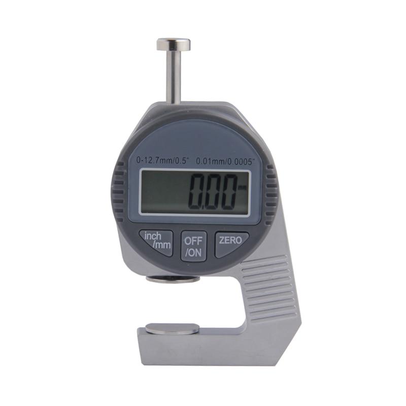 Digital medidor de espessura 0-12.7mm/0.01 mm/polegadas eletrônico medidor de espessura ferramenta de medição