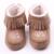 Sapatinhos de bebê inverno sapatos recém-nascidos quente tecido de pelúcia sapatinhos de bebê 0 - 12 meses da criança veludo franjas fundo macio do bebê sapatos quentes