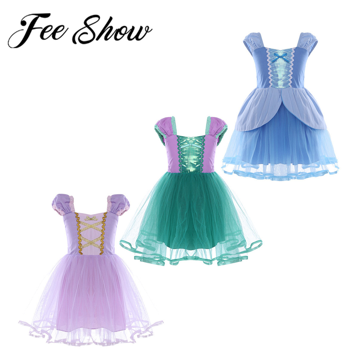 Halloween Girls Princess Fancy Dress Up Costume Outfits: Halloween Cosplay Costumes Holiday Dress Up Kids Girls