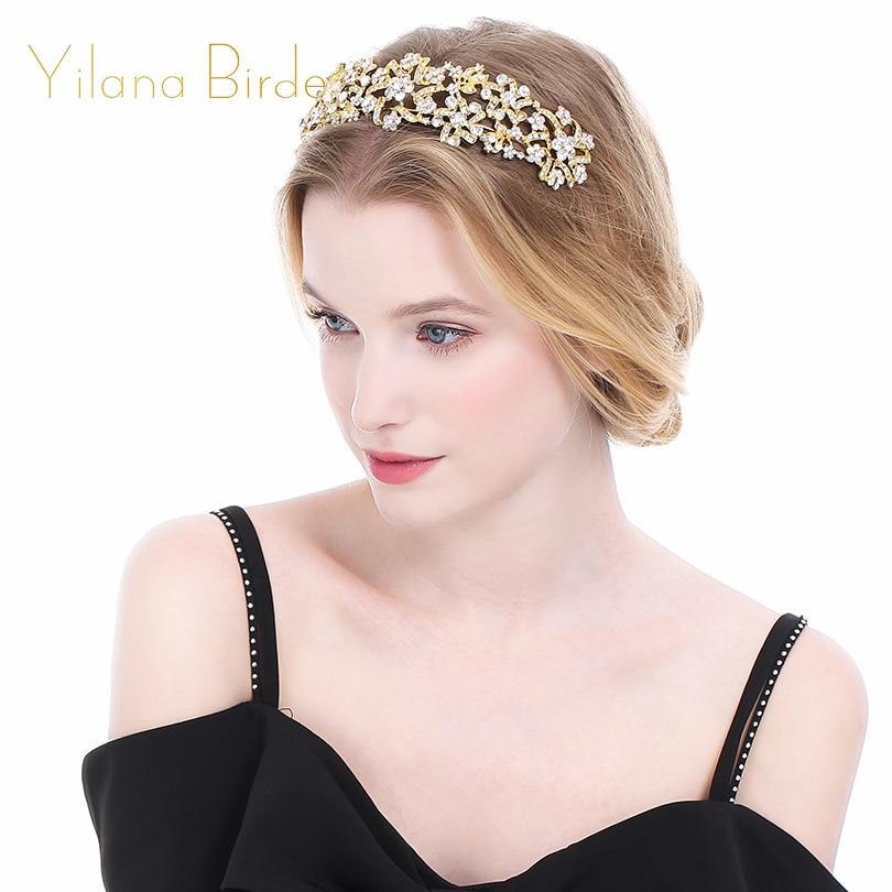 Wedding Jewelry Crystal Rhinestone Crowns Headband Tiaras Crowns Headband
