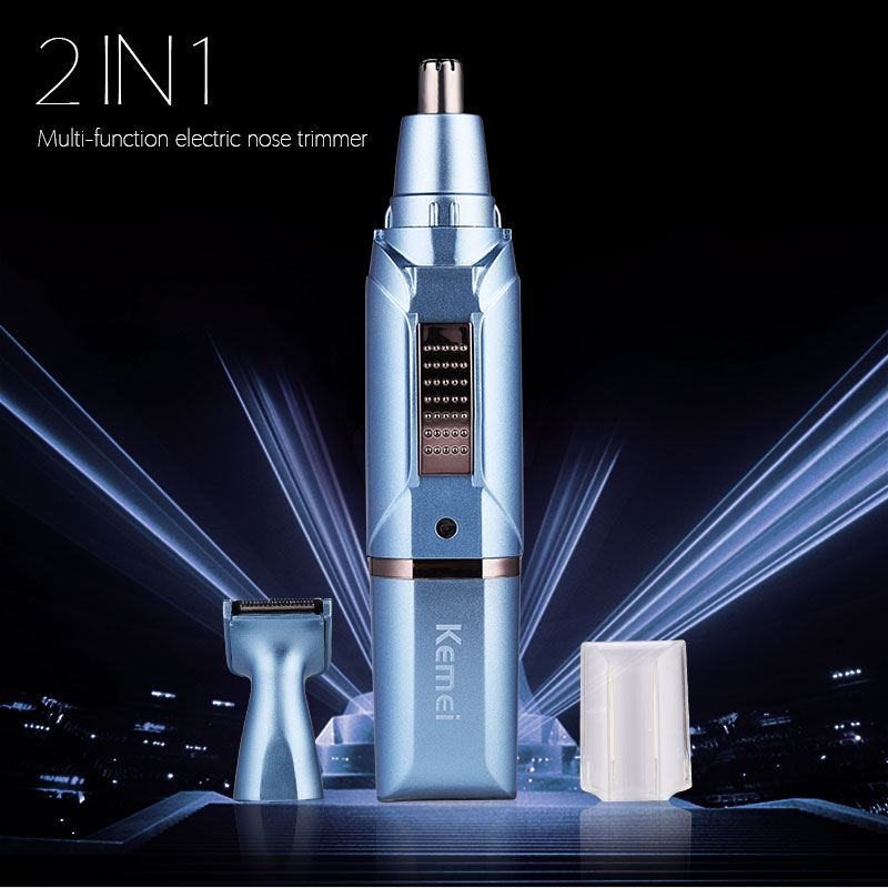 Электрический триммер для носа 2 в 1, для мужчин, бороды для ушей, резак для ухода за лицом, машинка для бритья, мужской носовой триммер, бритва...