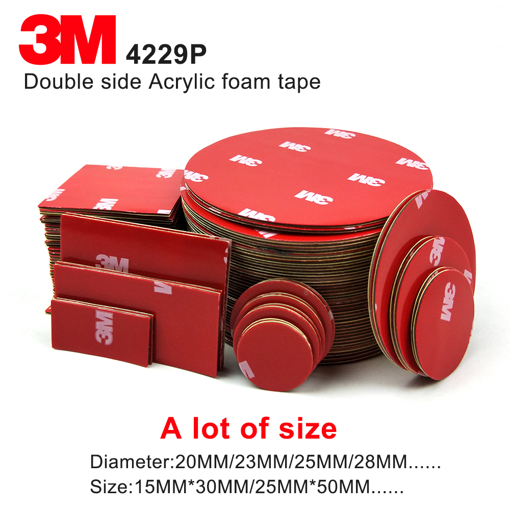 100% Original Gray Acrylic Foam Adhesive Auto Tape Double Sided 3M Car Tape 4229P Thickness 0.8mm,we Can Offer Die Cut Service