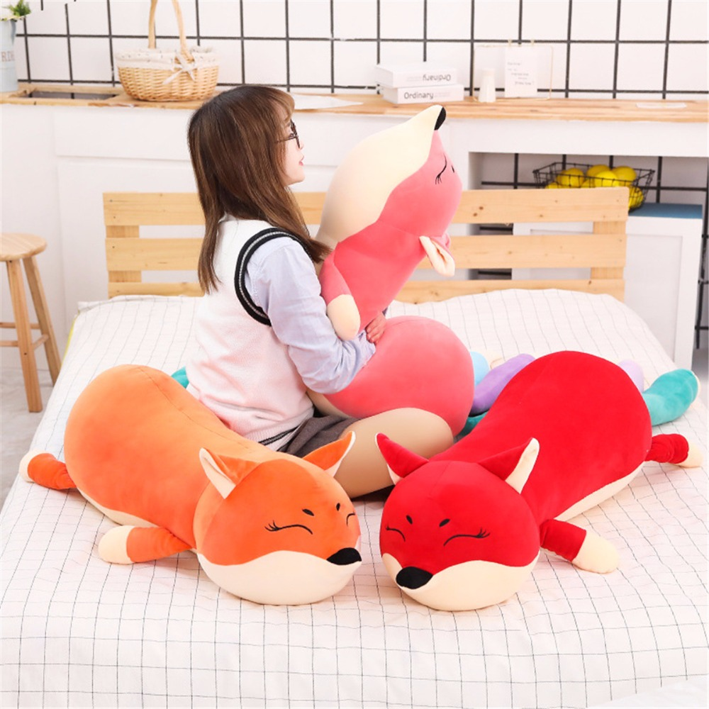 100/140cm Kawaii Dolls Stuffed Animals & Plush Toys for Girls Children Boys Toys Plush Pillow Fox Stuffed Animals Soft Toy Doll