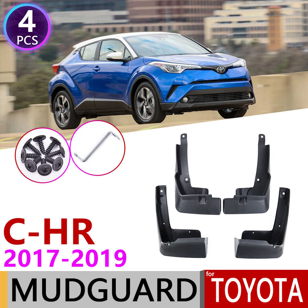For TOYOTA C-HR CHR 2016 2017 2018 Car Molded Splash Guards Mud ...