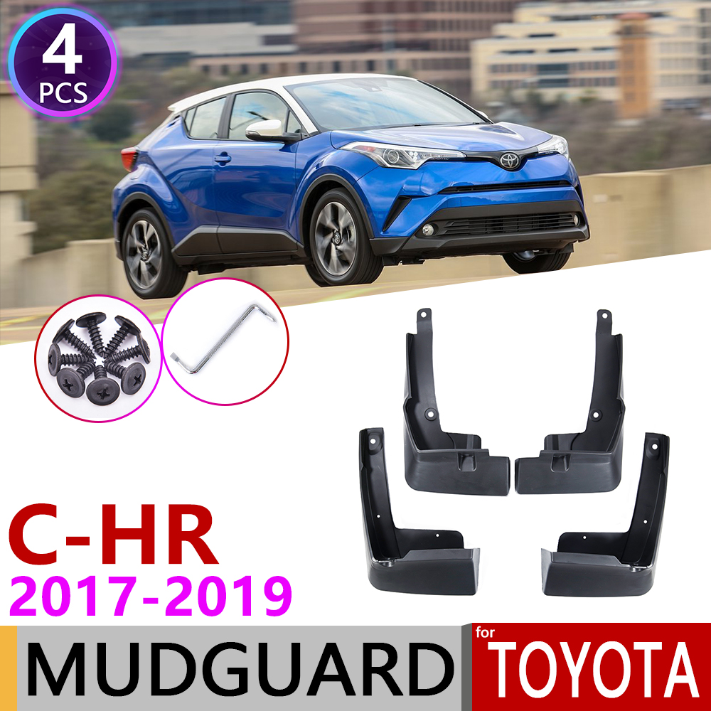 for Toyota C-HR 2017 2018 2019 CHR C HR AX10 Front Rear Mudflap Fender Mudguards Mud Flaps Guard Splash Flap Car Accessories