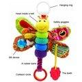 Babys cama alrededor de juguete de moda nuevo bebé móvil musical inchworm felpa niño juguete infantil kids toys mariposa muñeca rattle