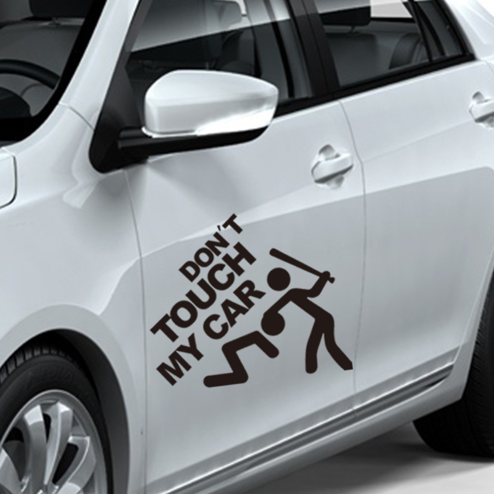 New design 22x19cm funny car sticker do not touch my car decorative cute decals diy applique