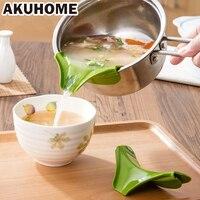 Кастрюли, чтобы предотвратить разливы круговой обода отражающая жидкий силикон воронка Кухня аксессуары Кухня воронки инструменты Pots
