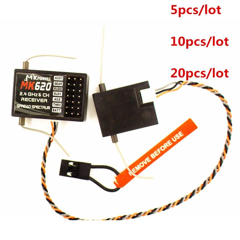 Mk620 2 4g 6ch Satellite Rc Receiver Compatible With Ar6200 Dx6i Dx7 Dx8 Dx9 Dsm 2 Transmitter