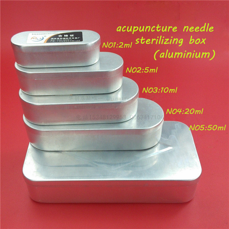 Medical needles/acupuncture needle sterilizing box aluminium box 2/5/10/20/50 ML set medcine box disposable sterile acupuncture needle steel acupuncture needles square if order 10 box best