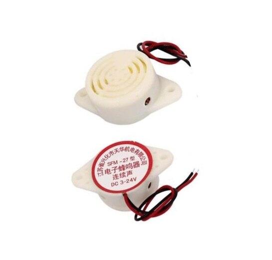 1PCS SFM-27 DC 3-24V 90DB Intermittent Beep Alarm Electronic Buzzer Sounder