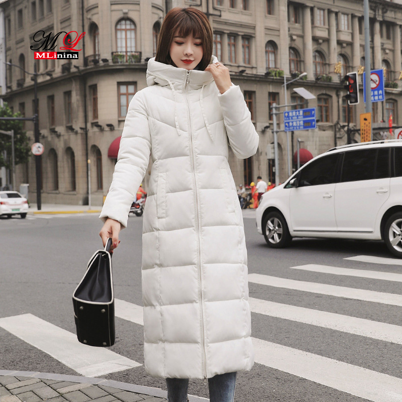 MLinina Winter Jacket Women Plus Size 6XL 2018 Warm Slim Zipper Hooded Long Women Coat Winter   Parkas   Cotton Thicken Outerwear