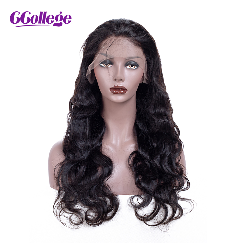 CCollege Lace Front Human Hair Wigs Natural Color Brazilian Body Wave Remy Hair 150% Density Lace Wigs For Women With Baby Hair
