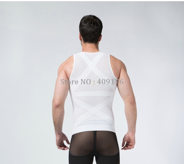 PRAYGER New Compression Gynecomastia Shaper Men Slimming Belly Girdle Corset Control Abdomen Tops Hook Tummy Trimmer Shirt 2