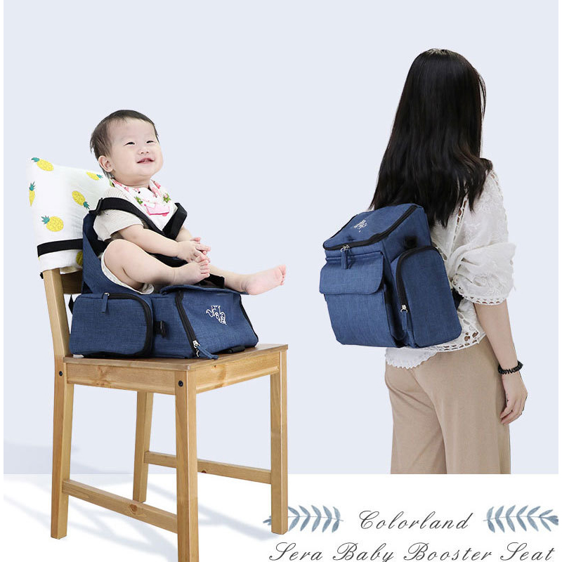 Portable baby dining chair bag multi-function collapsible diaper bag travel booster seat mummy bag portable care seat backpackPortable baby dining chair bag multi-function collapsible diaper bag travel booster seat mummy bag portable care seat backpack