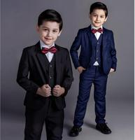 DHL4 Pieces / Wholesale Nimble Boys Formal Suits Solid Single Breasted Baby Boy Clothes Flat Toddler Jacket Blazer For Child