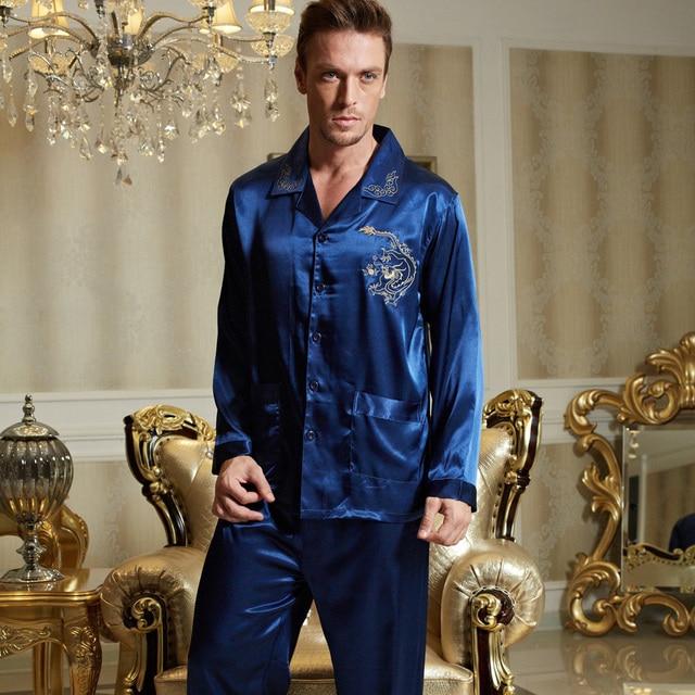 Aliexpress.com : Buy XIFENNI Brand Men's Pajamas Embroidery Long ...