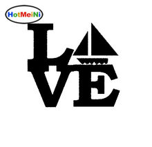 HotMeiNi Hot Sail Boat Love Sticker for Car Window Truck Door Vinyl Decal Life Jacket Sailing Mast Cargo Ship Submarine Boats(China)