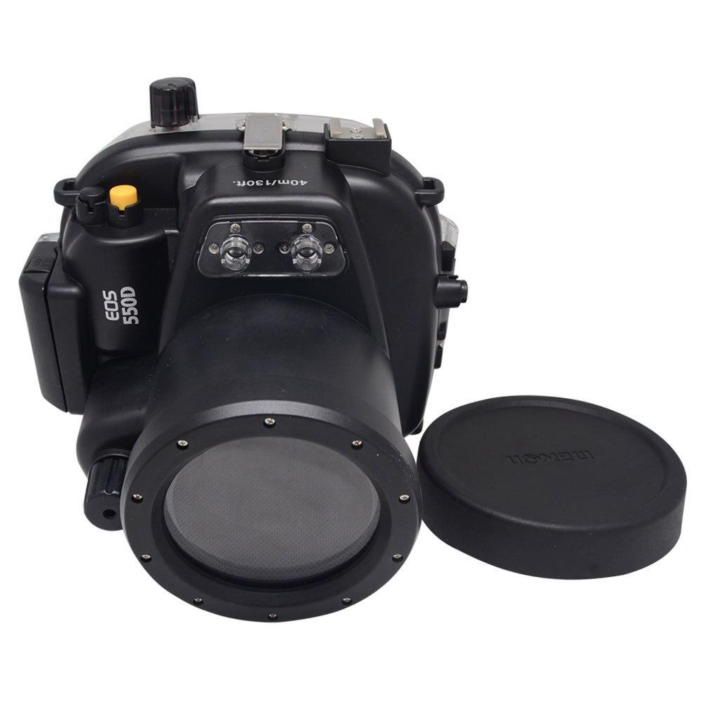 Submarino impermeable vivienda caso para Canon EOS 550D/rebeldes T2i puede ser utilizado con 18-55mm lente