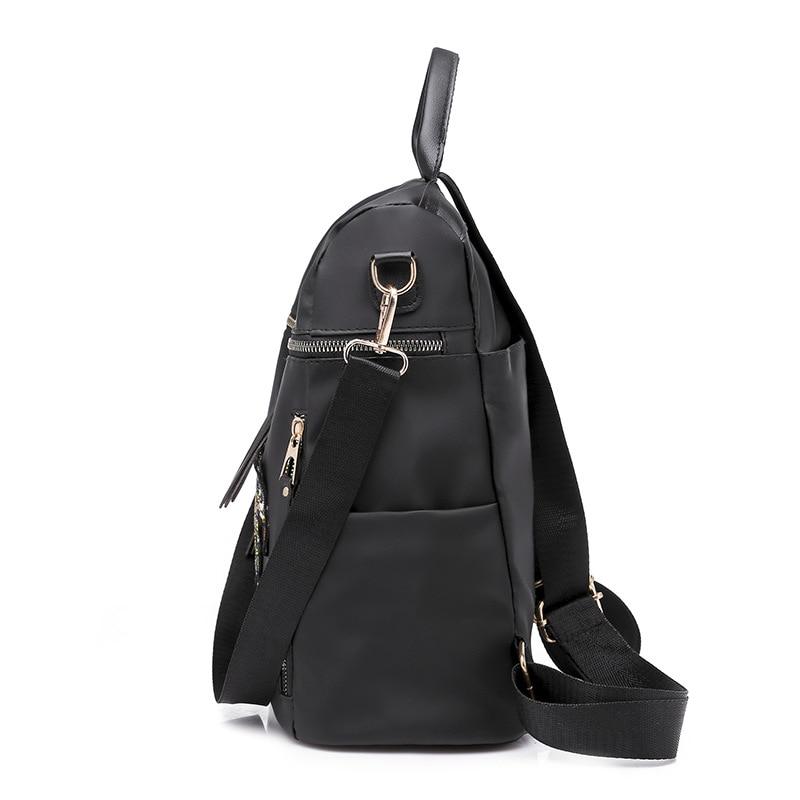 Bags for Women 2019 Backpack Women Zipper Embroidery Backpack Travel bag Mochila Feminina pu Leather Casual backpacks Black in Backpacks from Luggage Bags