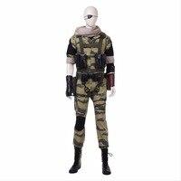 Из Металла Шестерни Твердые 5 Косплэй Для мужчин Solid Snake Косплэй костюм полный костюм Взрослый карнавал, Хэллоуин Косплэй змея костюмы рекви