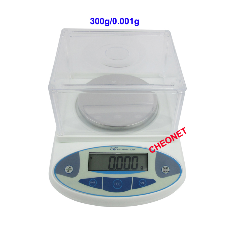 220V 300g/0.001g Lab Analytical Digital Balance Scale Jewellery Electronics said with LCD display weight sensor Free shipping integrated online analytical mining olam