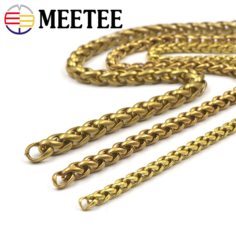 Fashion Solid Brass Men Belt Pants Keychain Trousers Jeans Wallet Chain Metal Bag Chain DIY Leather Crafts Accessories