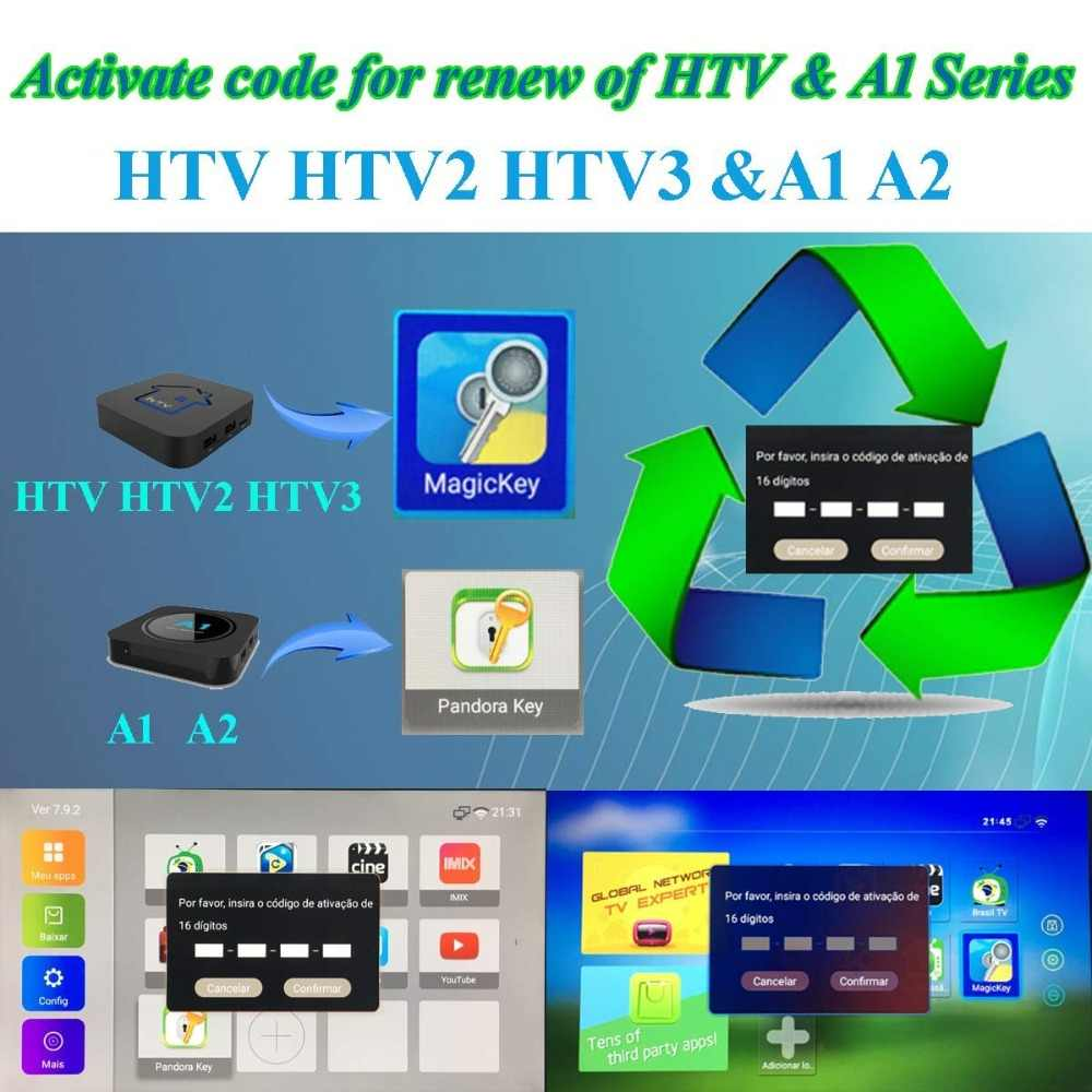HTV 1 2 3 5/A1/A2/IPTVKINGS/BRAZIL Box/Super Brazil IPTV Brazil  Subscription 16-Digit Renew Code with Magic Keys Free 1 Extra Mo