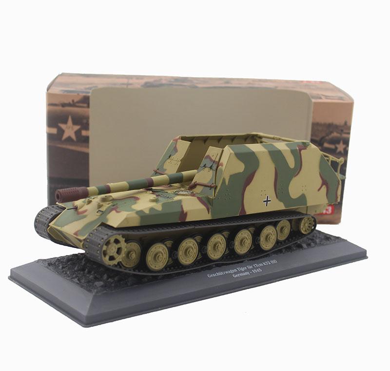 цена на 1/43 World War II Germany Geschutzwagen Tiger fur 17cm K72 tank model Alloy collection model