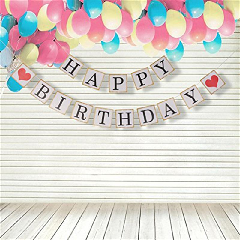 Orange Happy Birthday Bunting Garland or lettres Parti Suspendu Bannière Hot