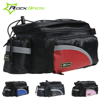 Rockbros Bicycle Bag Waterproof Rear Rack Travel Bag With Rain Cover Cycling Saddle Luggage Trunk Pannier