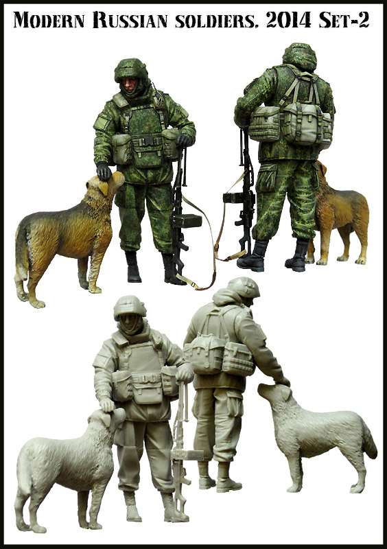 1:35 Modern Russian Soldiers e3 High Quality Resin Kit