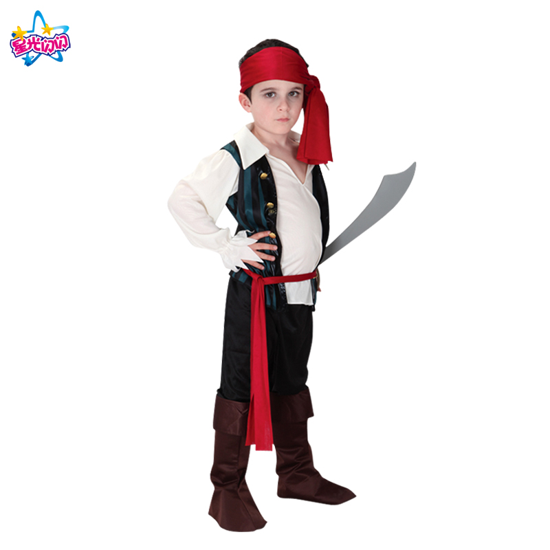Ilmainen toimitus Puku pojille Lapset Pirate Puvut Fantasia Infantil - Carnival puvut - Valokuva 5