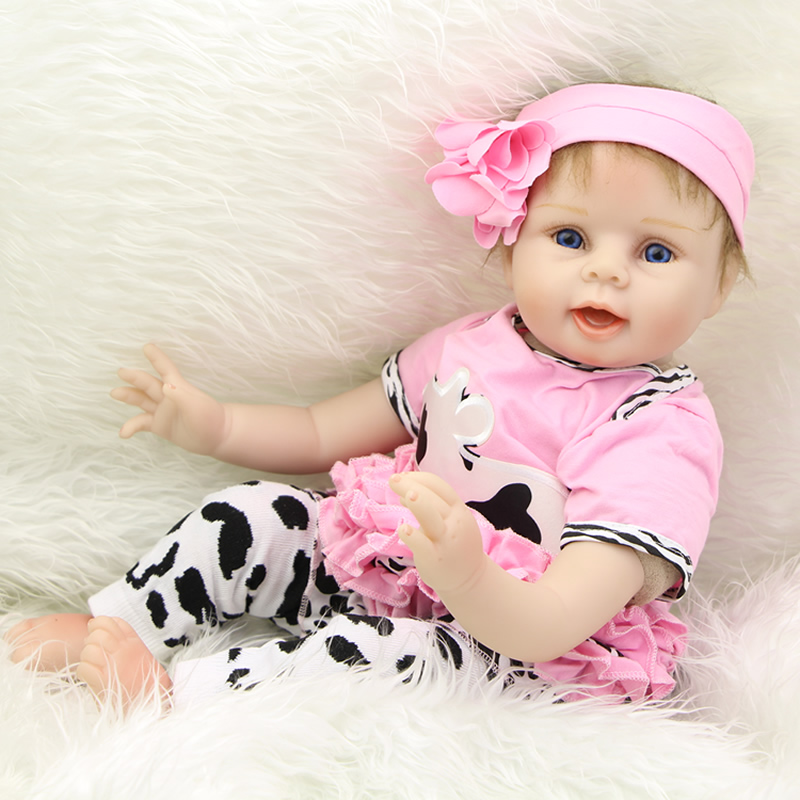 22 Inch Silicone Reborn Babies Realistic Princess Girl Dolls Lifelike Reborn Kids Children Birthday Gift
