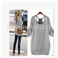 women summer Hollow cotton seven Quarter suit plus size L XL 2XL 3XL 4XL 5XL 6XL 7XL 8XL T shirts fashion tops tee Isweeland019