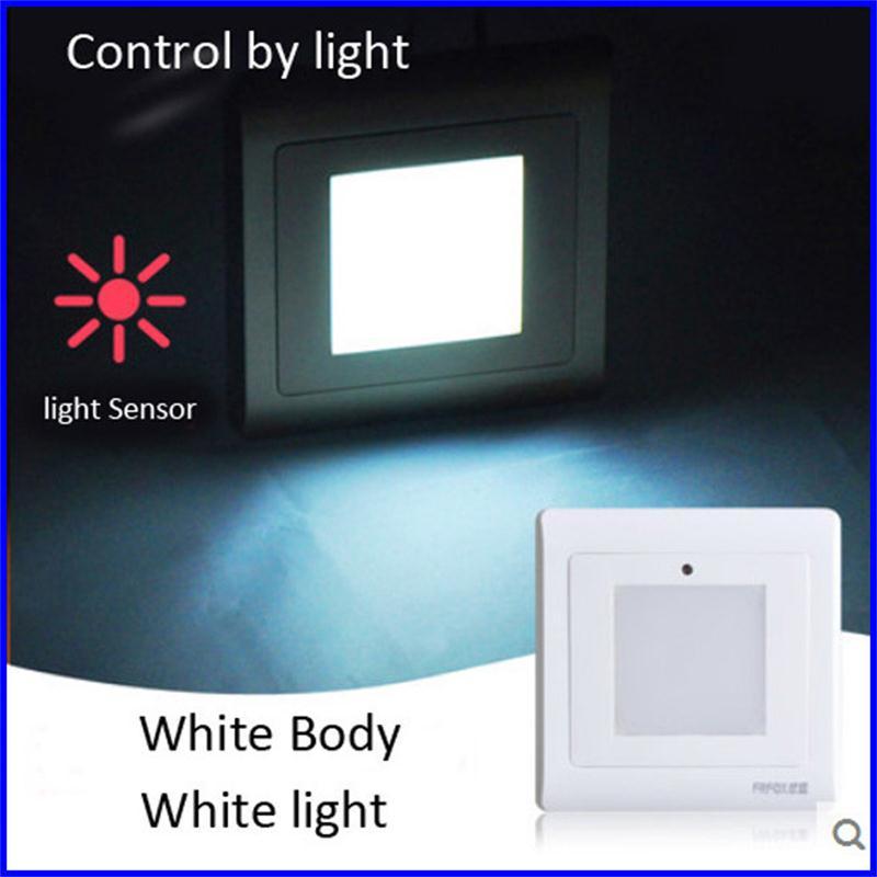 Lighting Basement Washroom Stairs: Light Sensor Diffused Step Lights LED Recessed Wall Lamps
