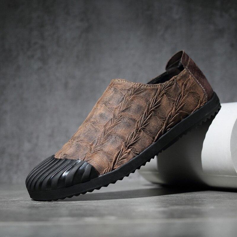 Fashion novelty unique Pleated plaid mens casual shoes cloth breathable England lazy tide men