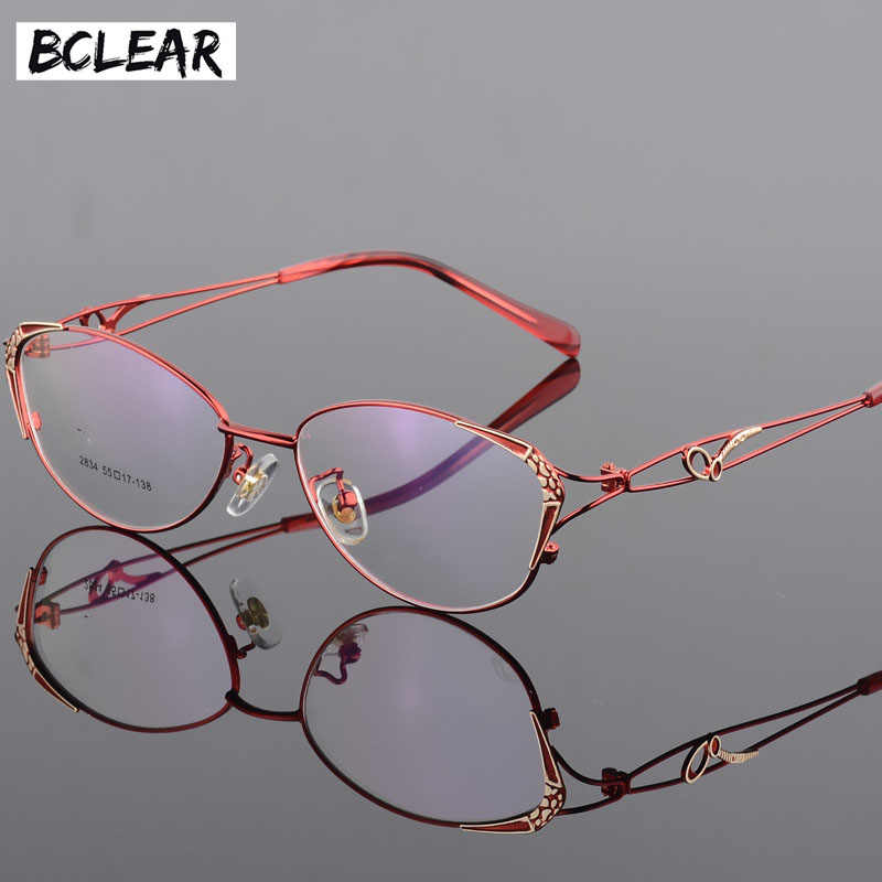 BCLEAR High Quality Popular Women Eyeglasses Full Frame Eye Glass Female Optical Glasses Frames Colorful Fashion Spectacle Frame