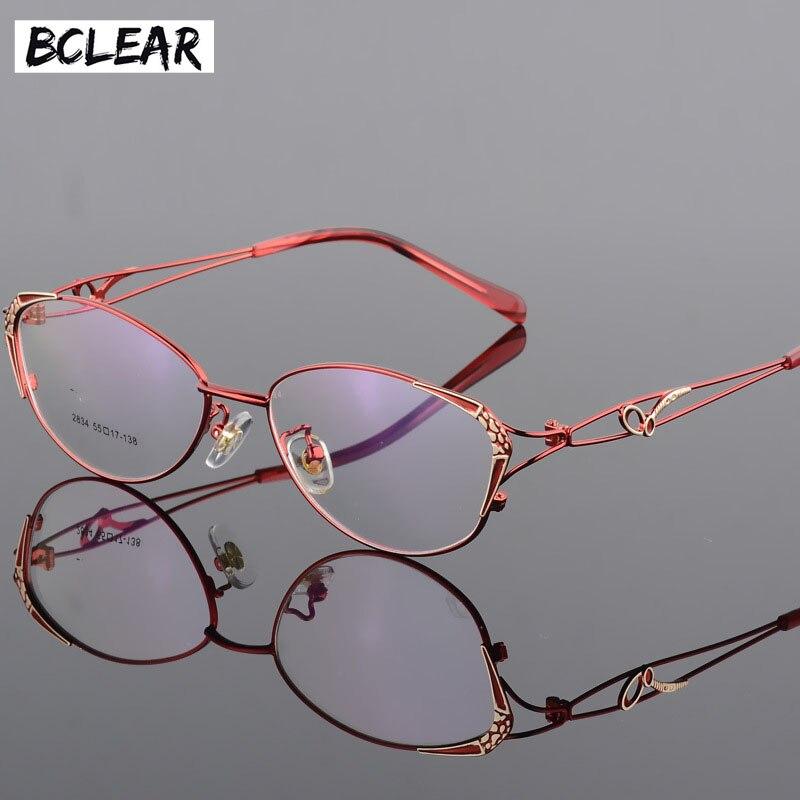 BCLEAR Alta Qualidade Populares Mulheres Óculos Full Frame Armações de  Óculos Olho de Vidro do Sexo e7709385b8
