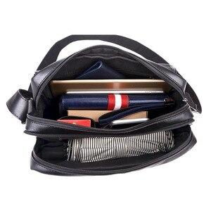 Image 4 - موضة جديدة حقيبة حقيبة للذكور حقيبة ساعي الأعمال Crossbody حقائب كتف للرجال العلامة التجارية مصمم حقيبة كمبيوتر محمول عادية