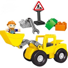 Large Size bricks CHINA brand  Building Blocks Classic Baby Toy Compatible with lego duplo 10520 Big Front Loader