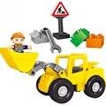 Tamanho grande Brinquedo Do Bebê Blocos de Construção de tijolos CHINA marca Clássico Compatível com lego duplo 10520 Grande Carregador Frontal