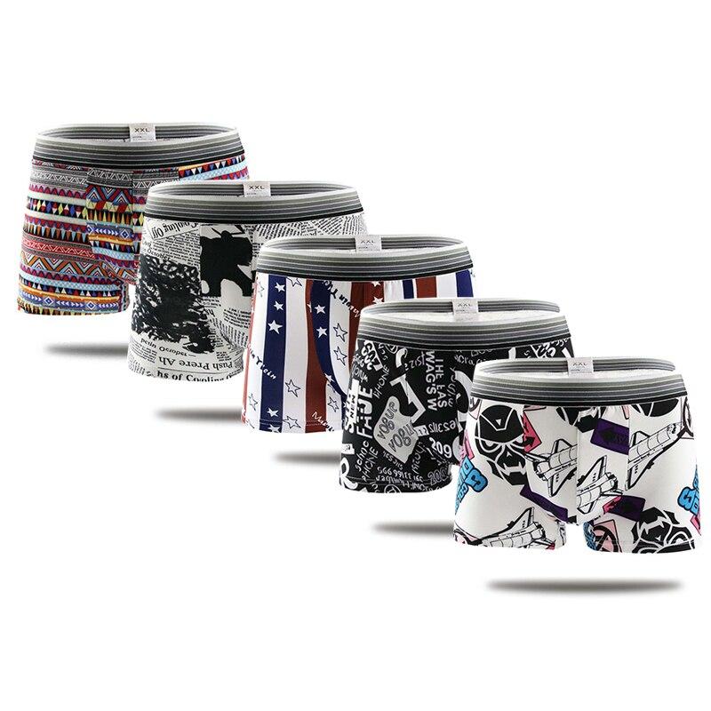 1f11d0e901d0 Cueca Boxers Shorts Men 5pcs/lot cartoon Print Funny Men Panties Underpants  Male Boxer Underwears Ropa Interior Hombre - a.kataj.me