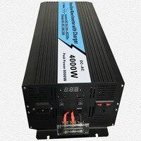 Непрерывное 4000 Вт UPS Чистая синусоида Инвертор Вход 12 В/24 В Выход 220 В/110 В постоянного тока до солнечной Системы инвертор с 20A/10A Зарядное устр