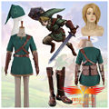 The Legend of Zelda Link Cosplay Costume Custom Made Cloth Shoes Boots Wig and Free Wig Cap Full Set (W0510/J0010)